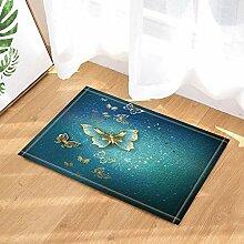 XHWL767 Urlaub Dekoration Gold Schmetterling blau