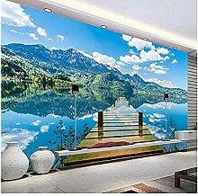 XHXI 3D-Tapete, Naturlandschaft, blauer Himmel,
