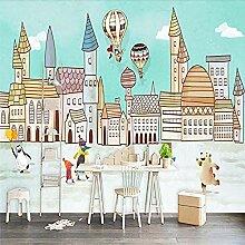XHXI Cartoon Stadthaus Heißluftballon
