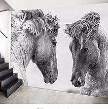 XHXI Fototapete für Wohnzimmer Pferd 3D großes