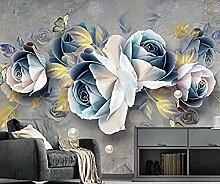 XHXI Geprägte Rose Europäische Retro Seitenwand
