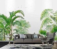 XHXI Handgemalte nordische Pflanze grüne Blätter
