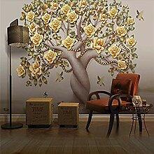 XHXI Kreativer Lebensbaum Gelbe Blume Pflanze