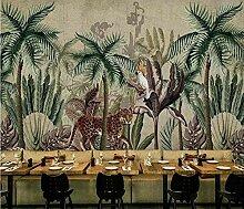 XHXI Pflanze Kokospalmen Retro Tapeten 3D Vlies