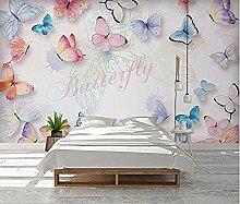 XHXI Romantische Schmetterling Seitenwand Tapete