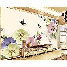 XHXI Tapete Wandbild Elegante Blumen Schmetterling
