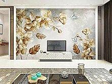XHXI Vintage Blume Seitenwand Tapete Schmetterling
