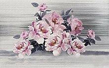 XHXI Vintage Ölgemälde Seitenwand Tapete Rosa