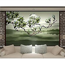 XHXI Wallpaper New Chinese Magnolia Duft