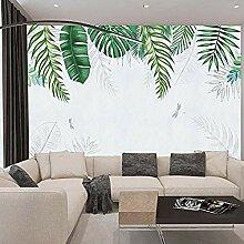 XHXI Wandbild, handbemalt, grüne tropische