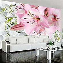 XHXI Wandbild Tapete Blumen Rosa Lilie Blumen Foto