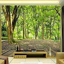XHXI Wandbild Tapete Blumengrüne Waldbäume Foto