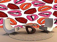 XHXI Wandteppichmuster mit roten Lippen