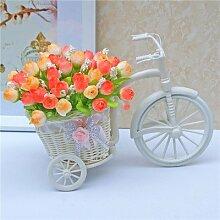 XHZ Seide Kunststoff Blumen und Blumenschmuck im Wohnzimmer home Zubehör emulation Blume Paket QQ das orange/Kleine Blume Warenkorb Künstliche Blumen Fake Blumen für Hochzeit Blumensträuße für Hochzeit Home Garten Dekoration zu schwingen