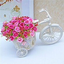 XHZ Seide Kunststoff Blumen und Blumenschmuck im Wohnzimmer zu schwingen home Zubehör emulation Blume in der Diamant der Rot/Kleine Blume Warenkorb Künstliche Blumen Fake Blumen für Hochzeit Blumensträuße für Hochzeit Home Garten Dekoration verpack