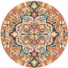 Xi Man Shop Orange Runder Teppich Gemütliche