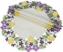 Xia Home Fashions Deckchen mit Blumenmotiv,