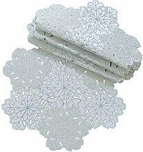 Xia Home Fashions Shimmer Schneeflocke Bestickt