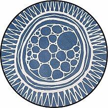 XIA Teppich Runde manuelle optionale Stil Nachttisch Sofa Kissen (Farbe : 3, größe : 100cm)