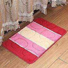 XIAMUO Bad Wasser absorbierenden Matten, Tür-Schiebetüren Tür Matte, Schlafzimmer/Küche/Fußmatten, 400 mm × 600 mm, Ro