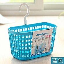 XIAMUO Güter des täglichen Bedarfs der Kunststoff aus dem Badezimmer montiert hängenden Korb zugeben Warenkorb Küchenzeile zugeben, Badewanne Warenkorb Pflegeprodukte zugeben Körbe behindern, Blau