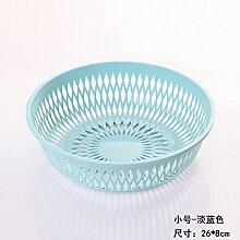 XIAMUO Güter des täglichen Bedarfs Gemüse waschen Siu Lek Yuen dunk von Wasser - dicke Wasserfilter Kunststoff Sieb Küche Wohnzimmer Obstkorb Waschbecken, kleine Hellblau