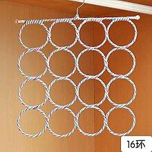 XIAMUO - Güter des täglichen Bedarfs Kreisen der Schal rack Home zugeben Lap im Namen des Inhabers des Tie Rack Regal schal Kleiderbügel gesendet zugeben Rack Seidenschal Rack 16 Ring