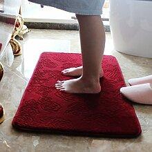 XIAMUO - Maschinenwäsche Badematte, Wasser Antirutschmatte, Badezimmer Tür-mat, 60 * 90 cm, 124