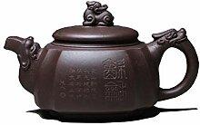 Xiang Ye handgefertigte violette Ton-Teekanne mit