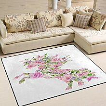 XiangHeFu Area Rugs Teppich, 152,4 x 10,2 cm,