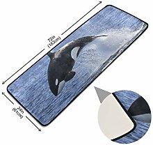 XiangHeFu Fußmatte Anti-Rutsch-Teppich Whale