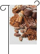 XiangHeFu Garten-Flag Gewürz Schokolade