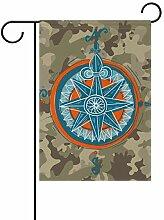 XiangHeFu Garten-Flagge Camouflage Abstrakter