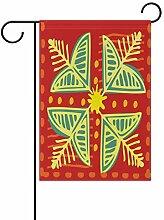 XiangHeFu Garten-Flagge ethnische Blumenmuster