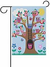 XiangHeFu Garten-Flagge, Eulen, Familienstammbaum,