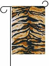 XiangHeFu Garten-Flagge, Kunst, Tigerhaut, 30,5 x