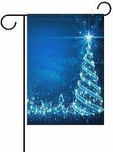 XiangHeFu Garten-Flagge, Weihnachtsbaum, 30,5 x