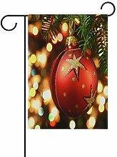 XiangHeFu Garten-Flagge, Weihnachtsbaumkugel 30,5
