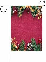 XiangHeFu Garten-Flagge, Weihnachtsdekoration,