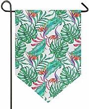 XiangHeFu Garten-Flaggen-Sommer-Muster-tropisches