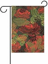 XiangHeFu Gartenflagge mit Blumenmuster, nahtlos,