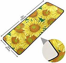XiangHeFu Pads Bodenteppich Sonnenblume Floral