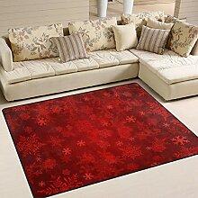 XiangHeFu Teppich, 150 x 122 cm, Rot mit