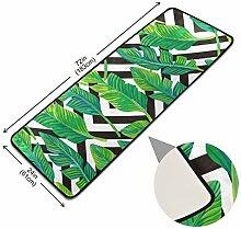 XiangHeFu Teppich Teppich Tropical Leaf Graphic