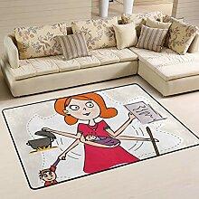 XiangHeFu Teppiche Fußmatten Super Mom weichen