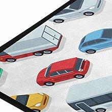 XiangHeFu Teppiche Road Cars Muster weichen 39 x