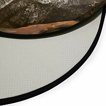 XiangHeFu Teppiche runder Durchmesser 92 cm / 36,2