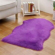 xiangju Kunstpelz Schaffell Stil Teppich Stuhl Set
