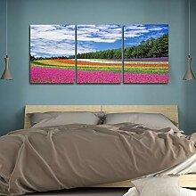 XIANGPEIFBH Drucken von Bildern Lavendel Garten
