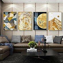 XIANGPEIFBH Goldene Moderne abstrakte